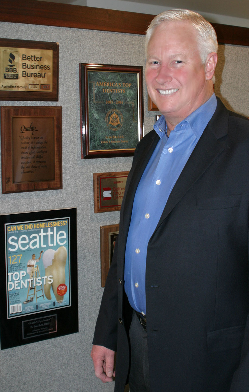 Bellevue cosmetic dentist, Dr. Ian Bell, at our dentistry.